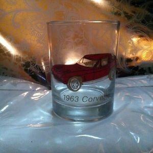 Other - 1963 corvette glass cup mug